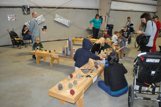 A constant flow of little Railroaders enjoyed this display throughout the show